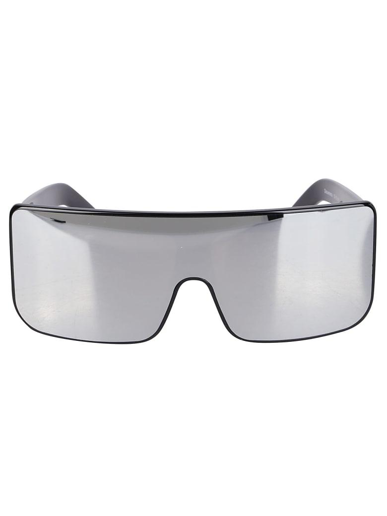 Rick Owens Black Mirrored Sunglasses - Black