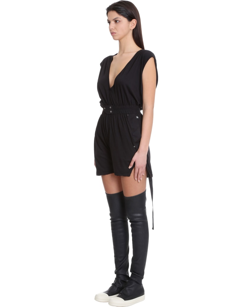 DRKSHDW Bodybag Suit In Black Cotton - black