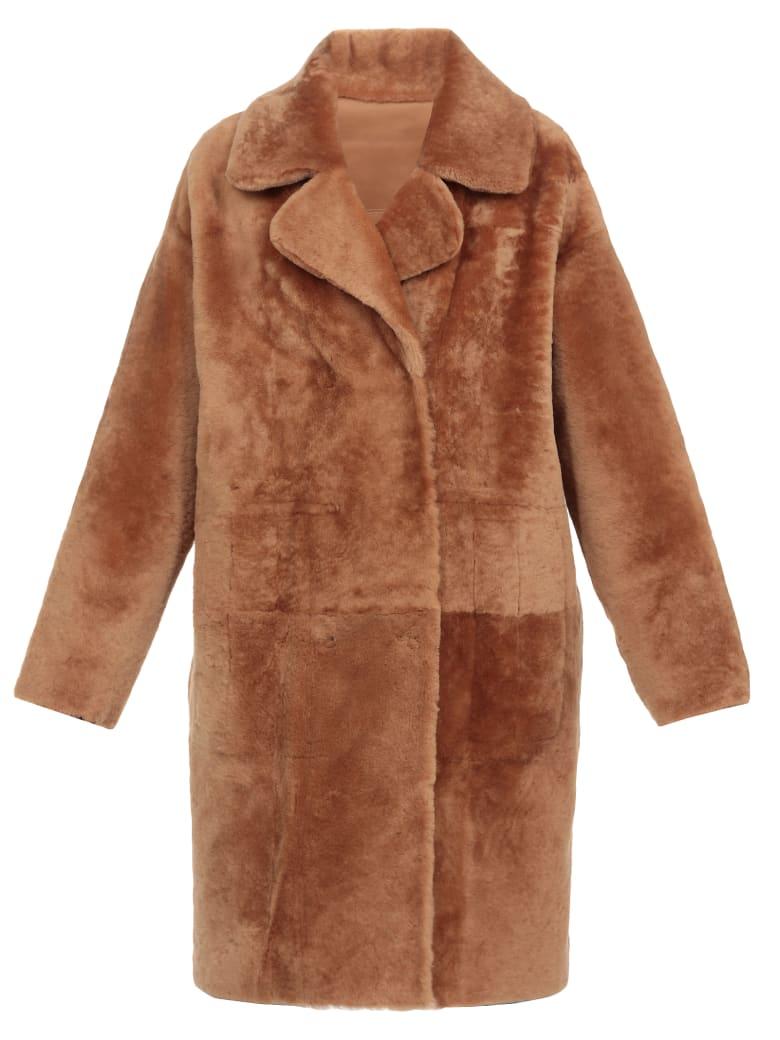 DROMe Leather Coat - CARAMEL