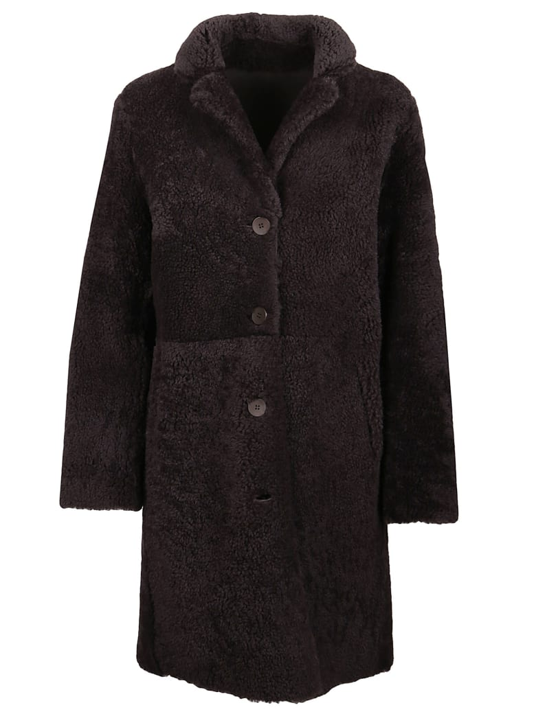 S.W.O.R.D 6.6.44 Shearling Coat - Chocolate