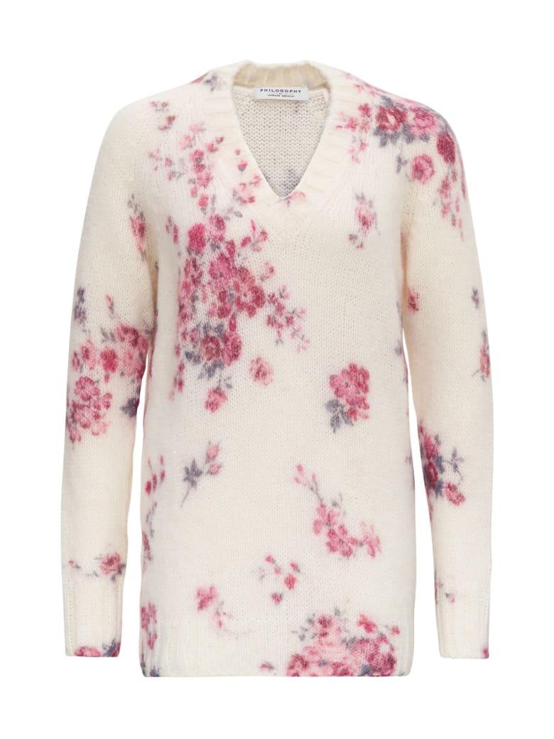 Philosophy di Lorenzo Serafini Floral Sweater - White