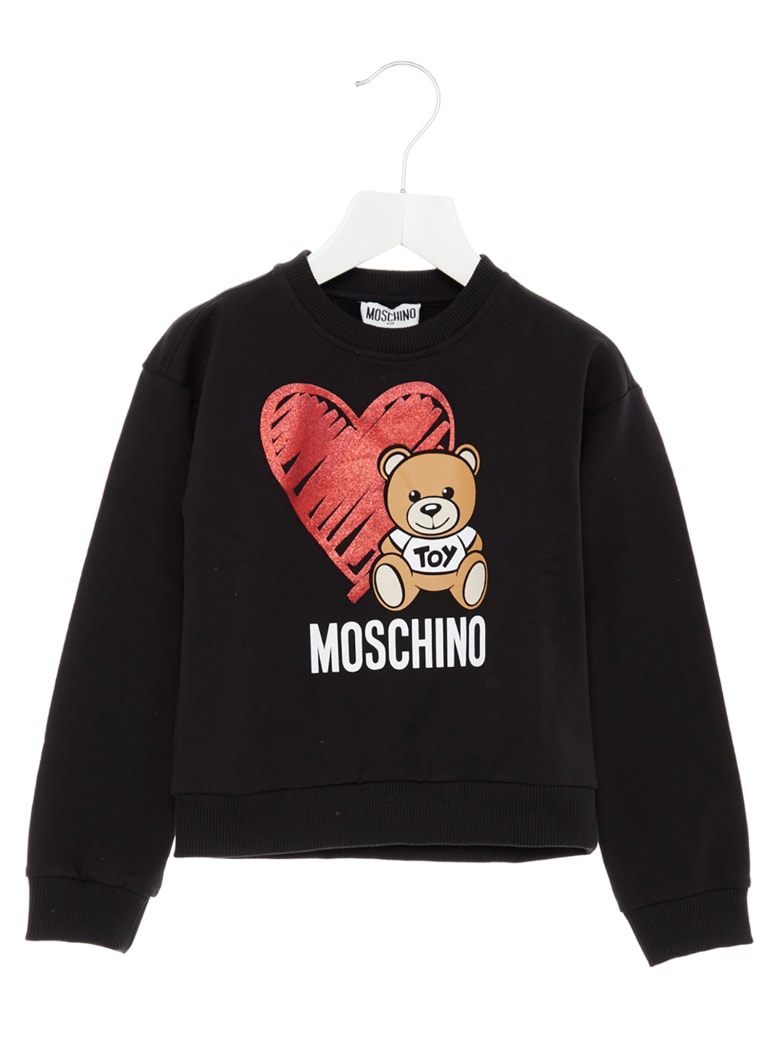 Moschino 'teddy Cuore' Sweatshirt - Black