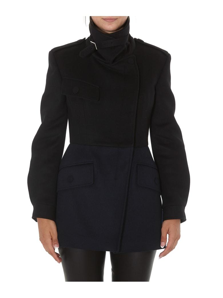 Alexander McQueen Bicolor Coat - Black navy