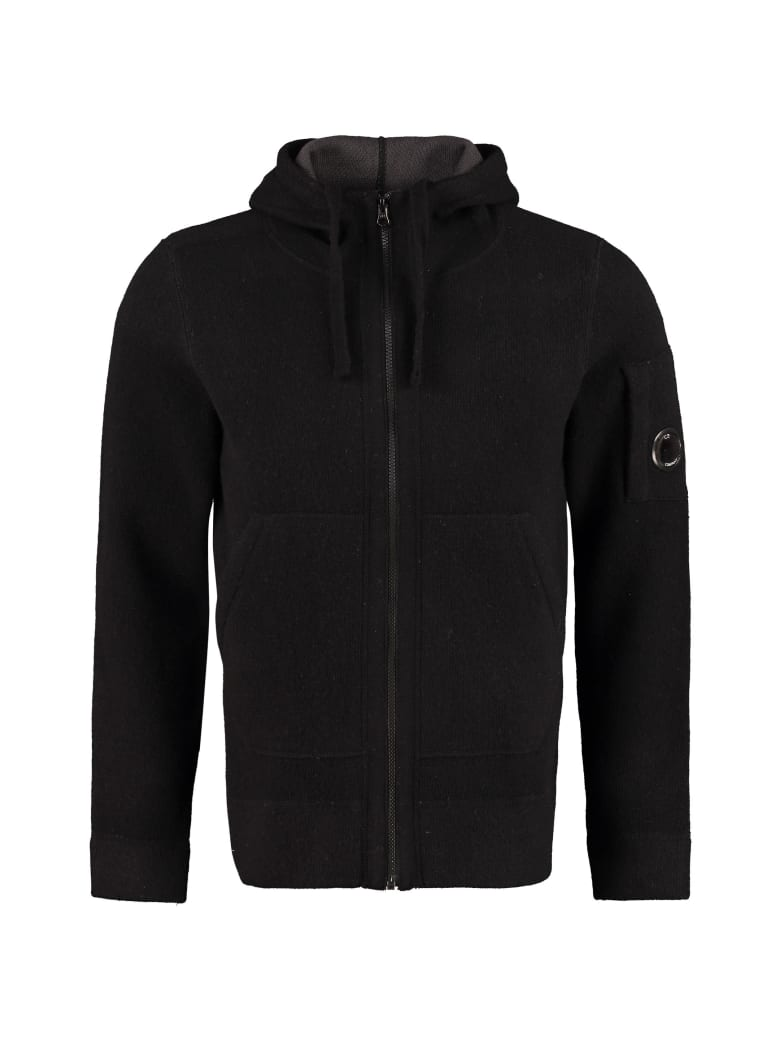 C.P. Company Knitted Hoodie - black