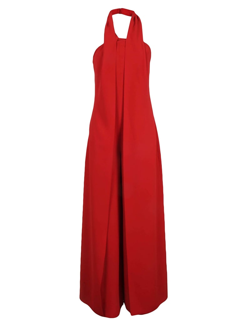 Ralph Lauren Black Label Backless Jumpsuit - Bright Red