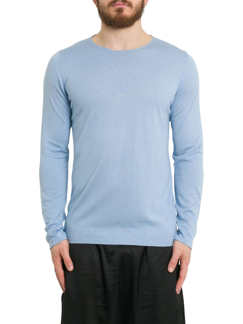 Laneus Silk And Cashmere Long Sleeve Tee - Azzurro