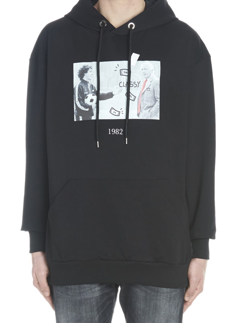 Throwback 'agnello & Platini' Hoodie - Black