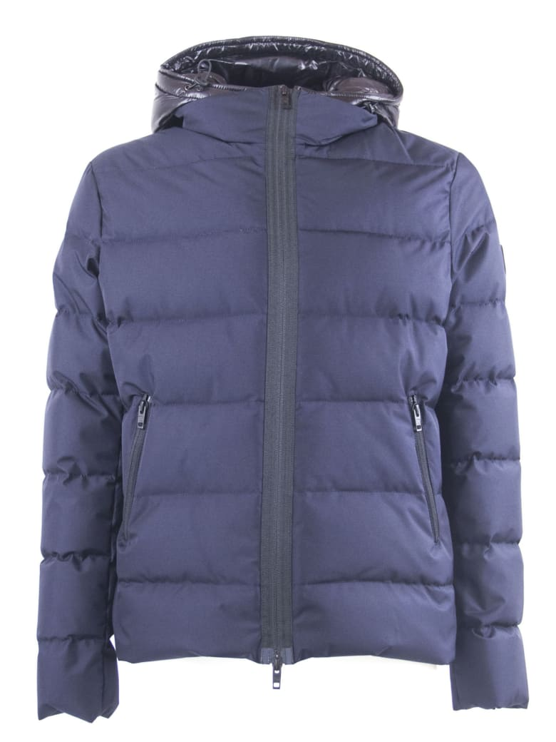 new arrival 68422 2bfe9 Fay Blue Hooded Down Jacket