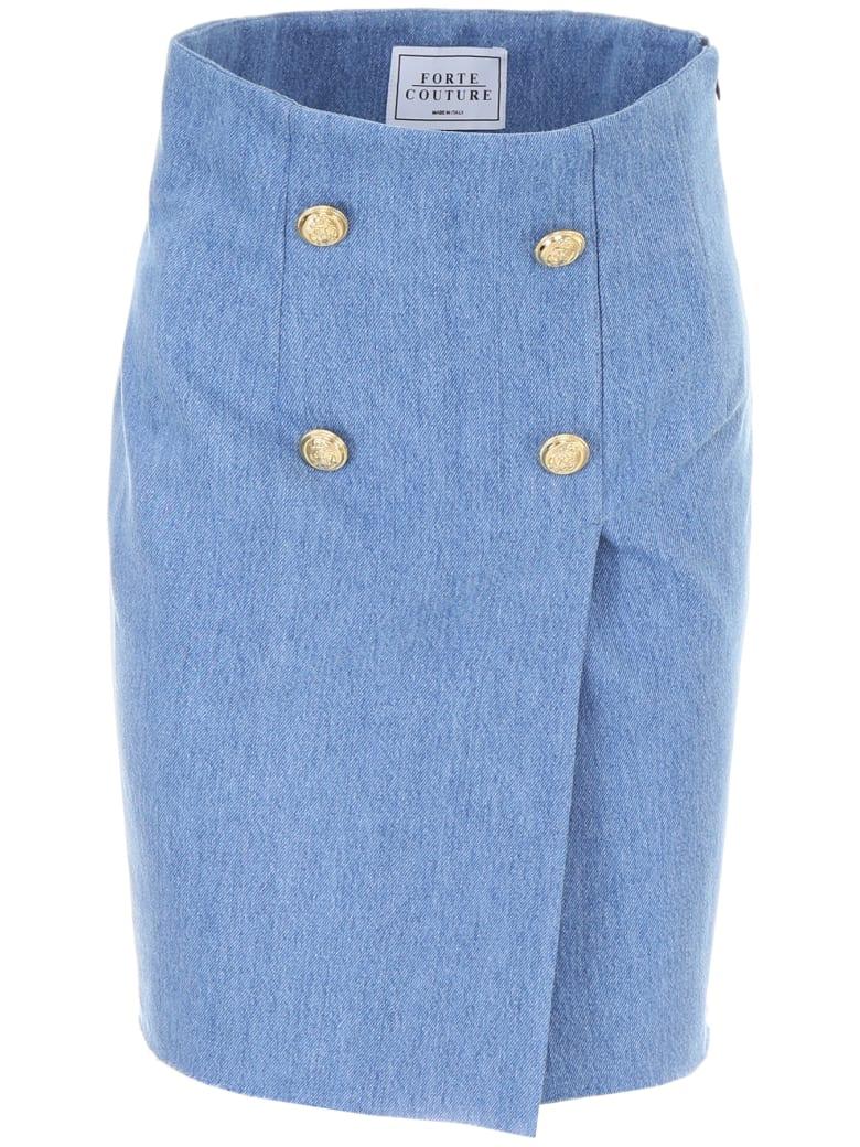 Forte Couture Denim Skirt - DENIM1 (Light blue)