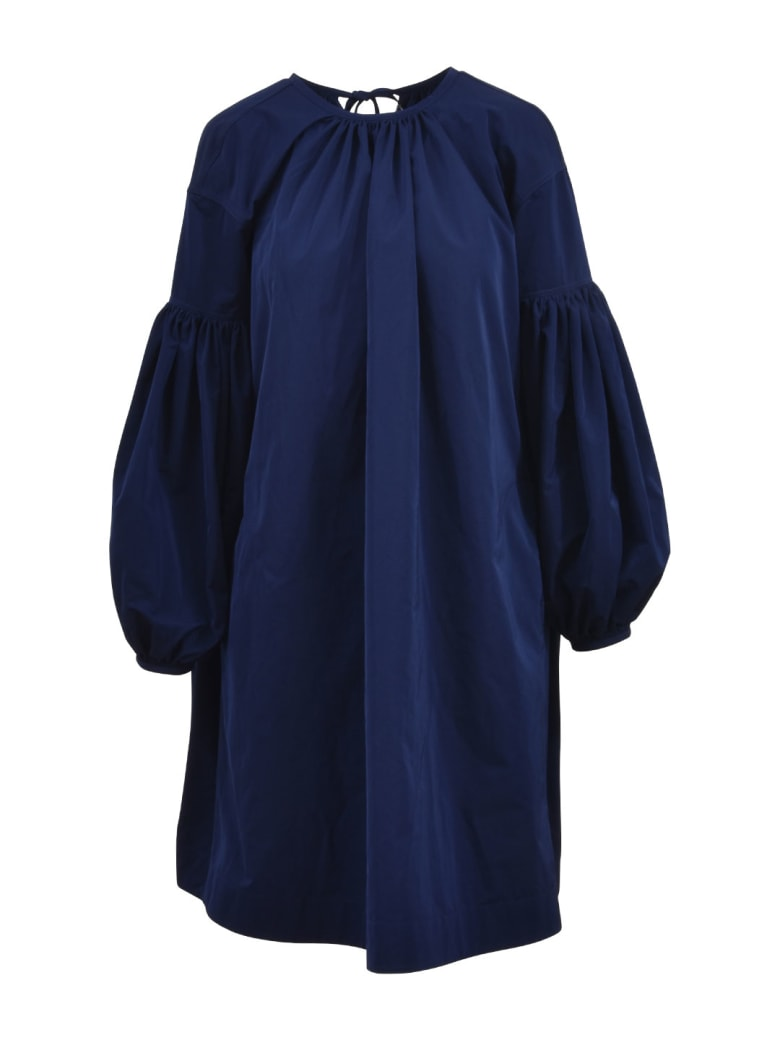 Calvin Klein Lace Detail Bishop Dress - Blue