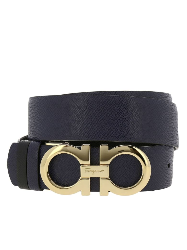 How To Tell If A Ferragamo Belt Is Real >> Salvatore Ferragamo Belt Adjustable And Reversible Gancini Belt In Genuine Score Leather