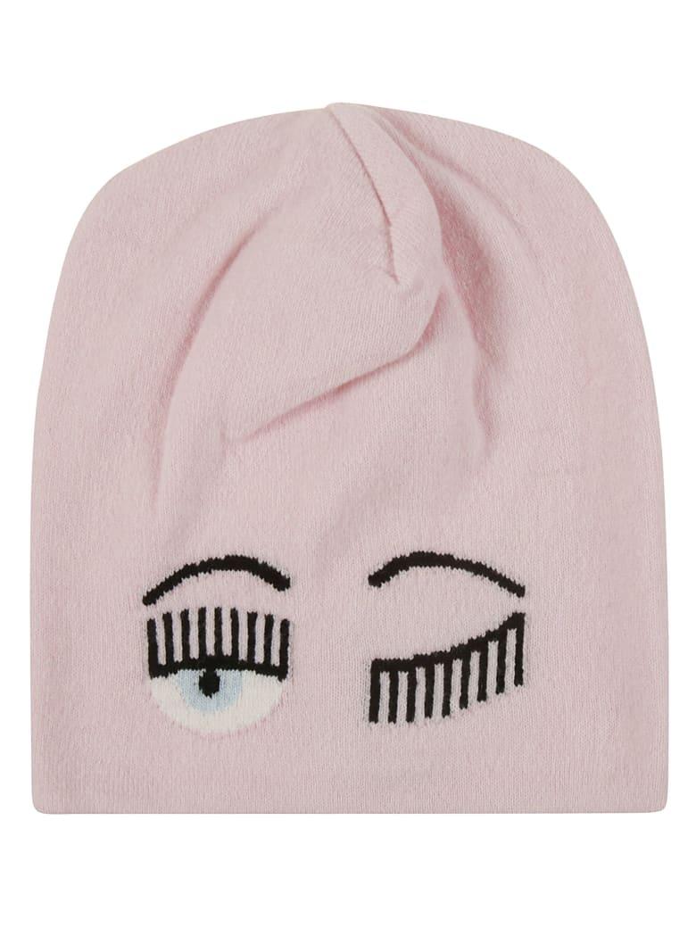 Chiara Ferragni Flirting Eye Beanie - pink