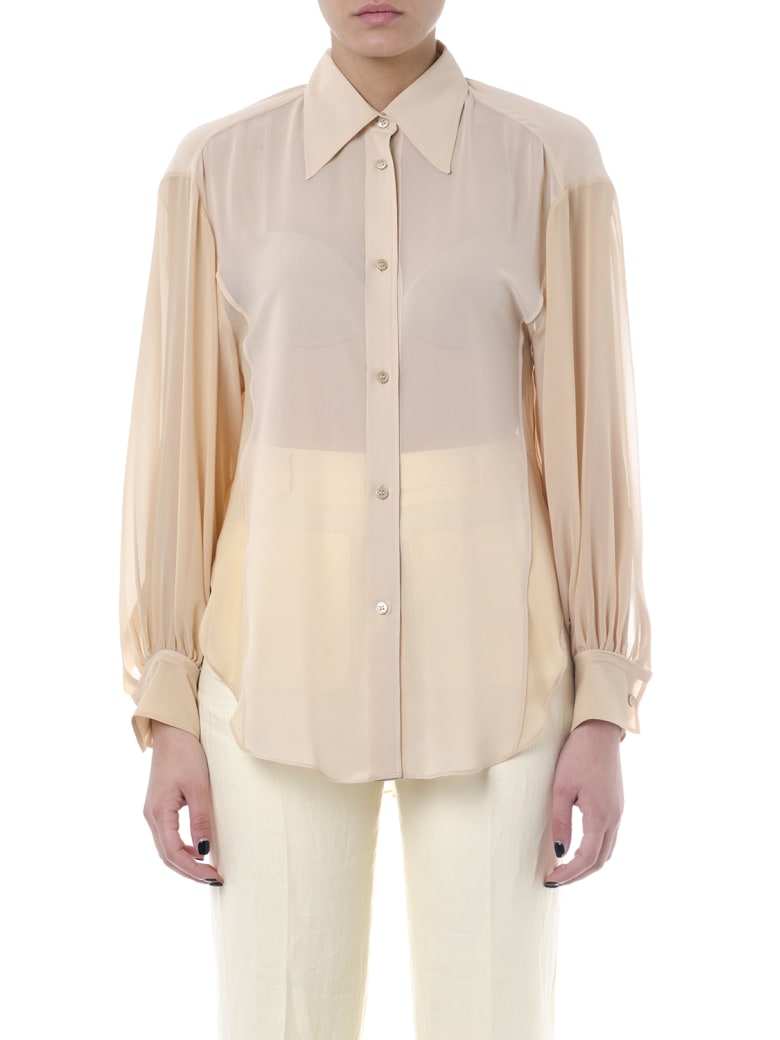 Acne Studios Beige Color Silk Shirt - Beige