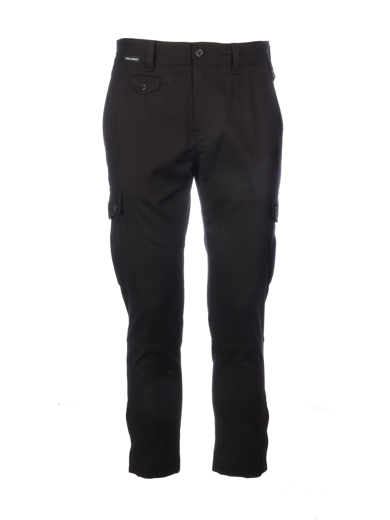 Dolce & Gabbana Cotton Pant With Pockets On The Sides - Bla
