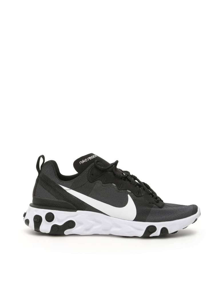 Nike React Element 55 Sneakers - BLACK WHITE (Black)