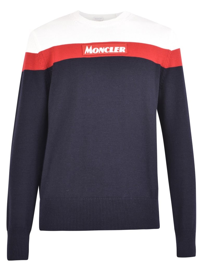 Moncler Branded Sweater - Blue