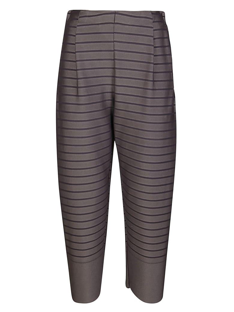 Issey Miyake Grey Striped Trousers - Grey