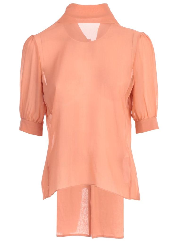 Blumarine Shirt S/s W/collar Knot - Phard