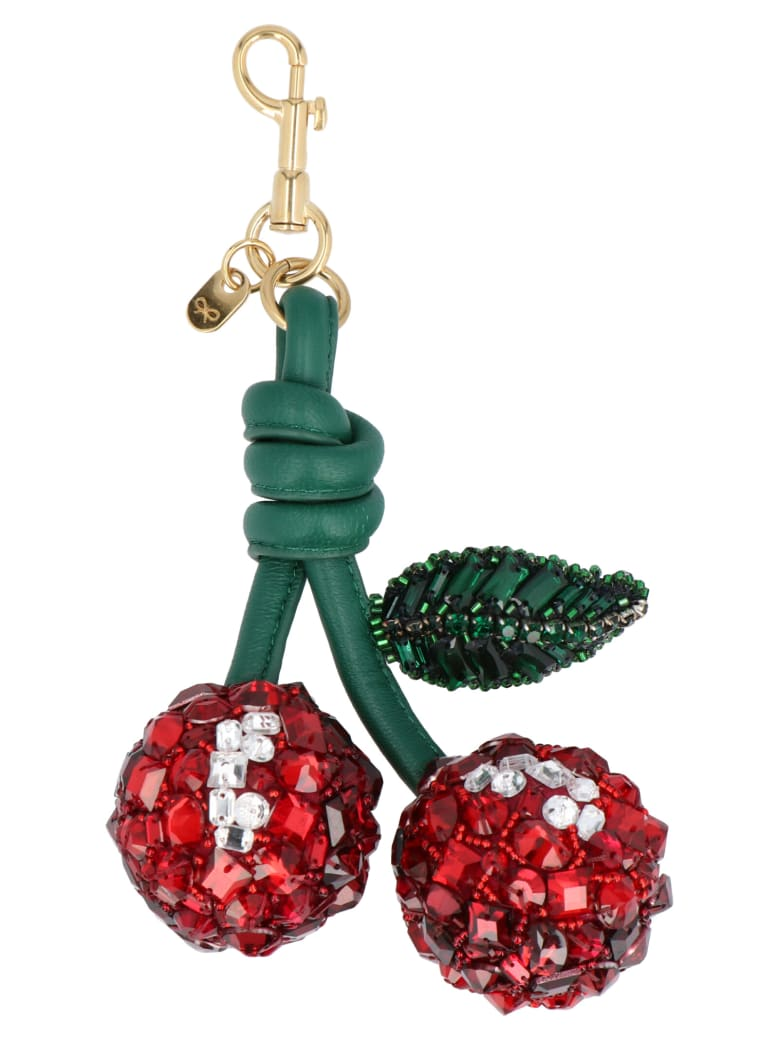 Anya Hindmarch 'cherries' Keyring - Red