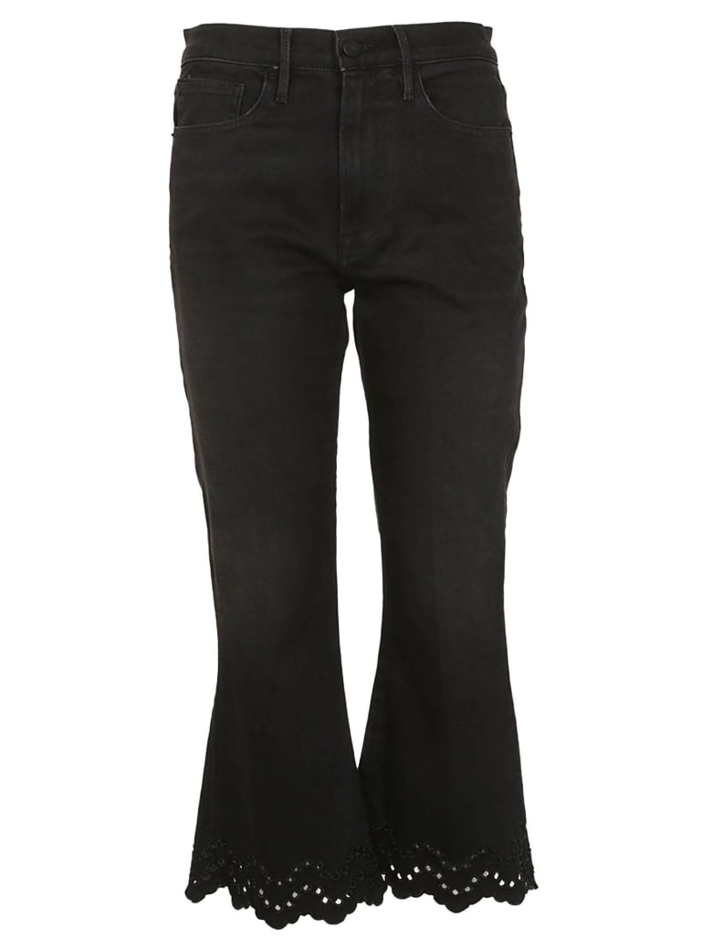 Frame Frame Flared Cropped Jeans - Nero lavato