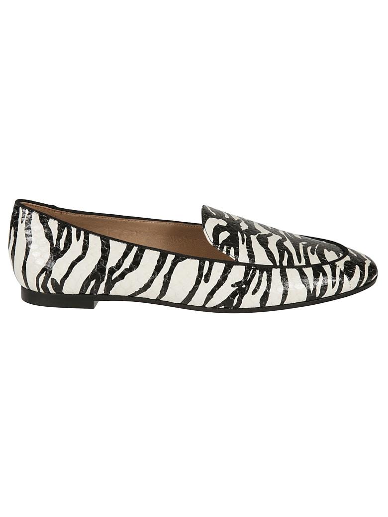 Aquazzura Purist Moccasin Loafers - Cream/Black