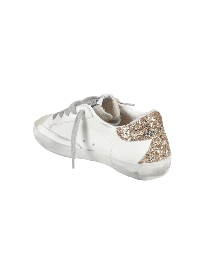 Golden Goose Shoes - White Silver Gold