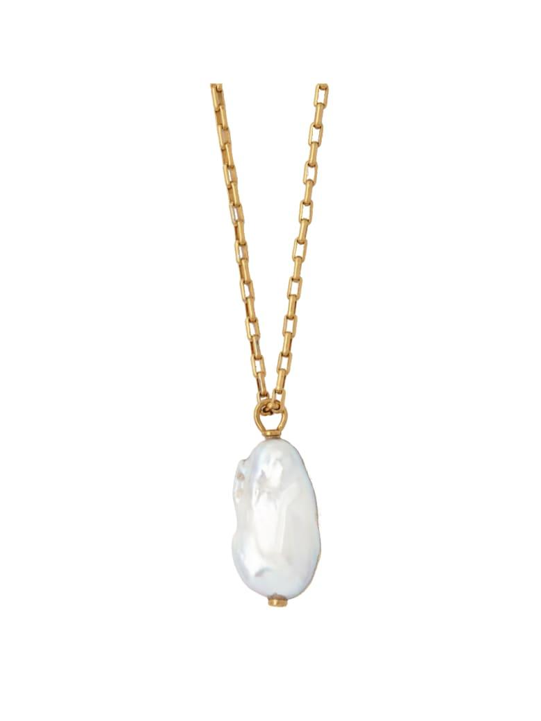 AMBUSH Dipped Pearl Necklace - Gold