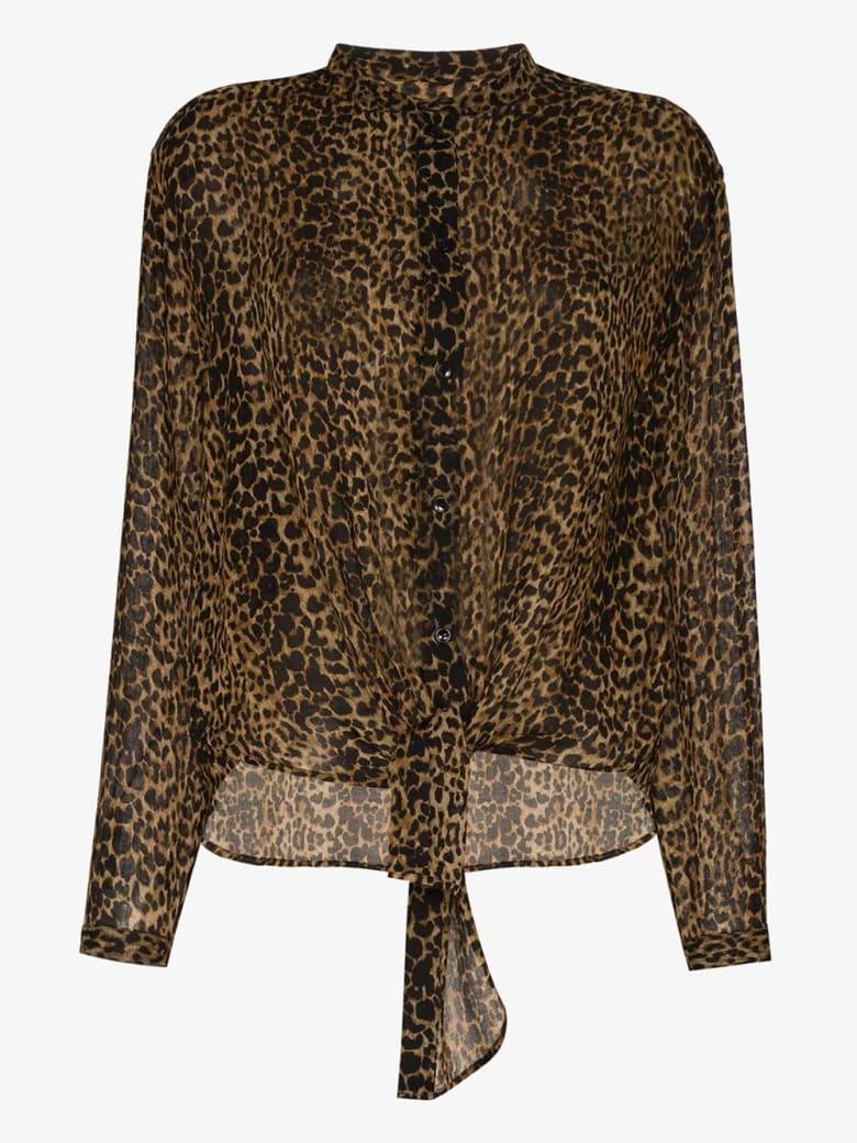 Saint Laurent Leopard-print Wool Shirt - Leopard