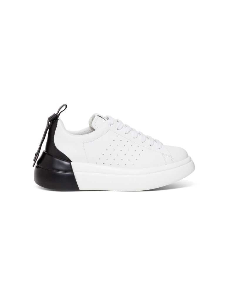 RED Valentino Chunky Sneaker In Leather - Black