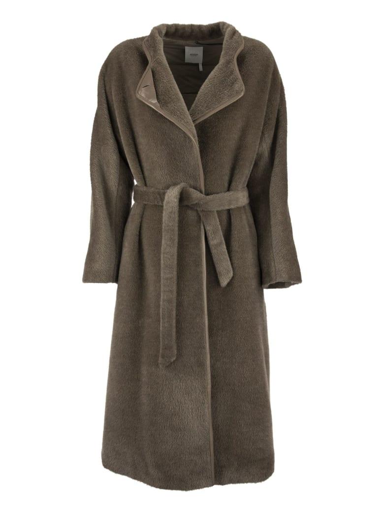 Agnona Coat Taupe - Brown
