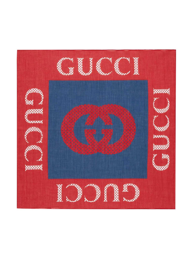 Gucci Red And Blue Foularde - Beige/rosso