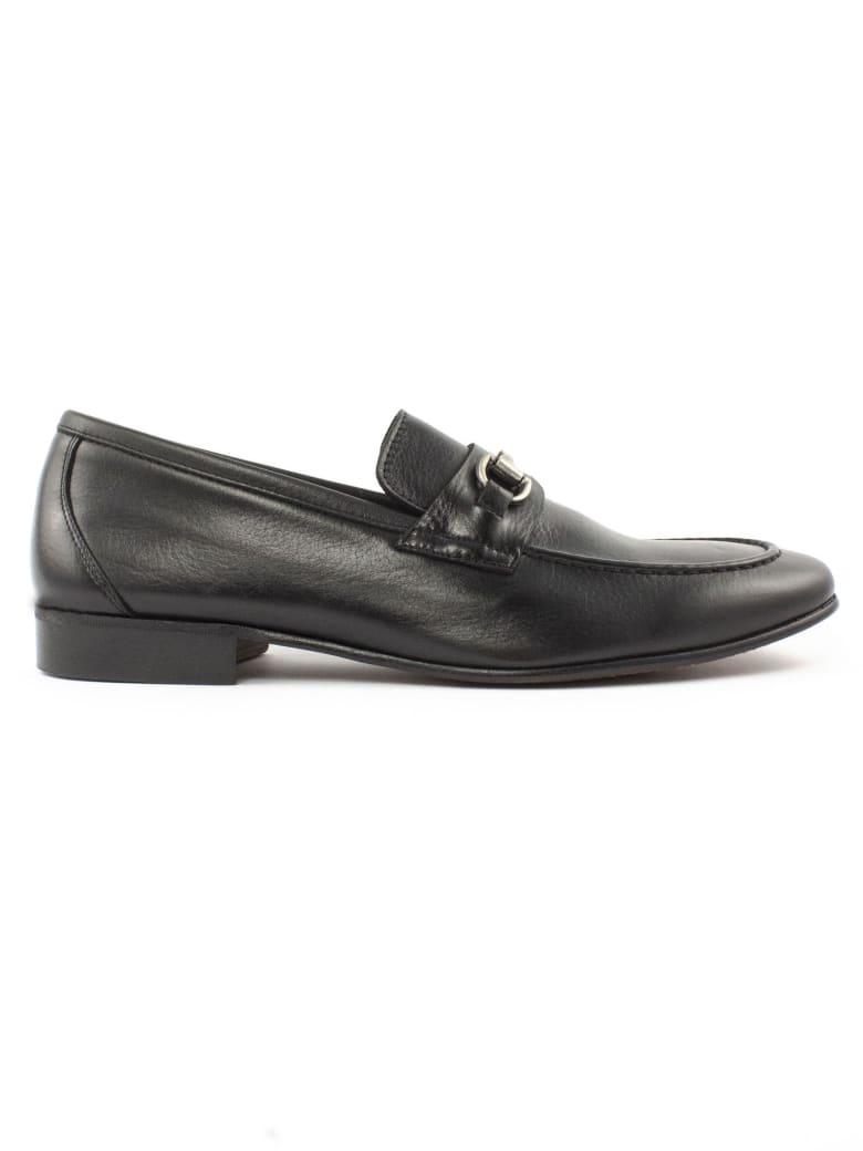 Berwick 1707 Black Leather Loafer - Nero