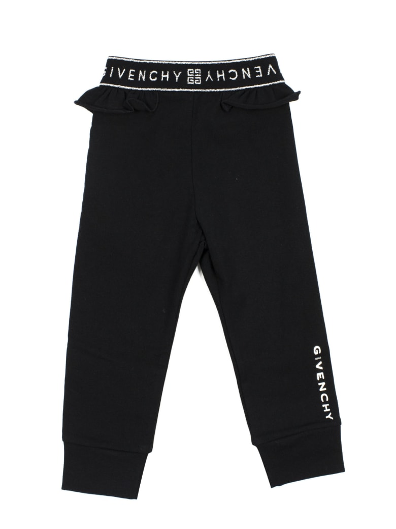 Givenchy Black Cotton Blend Tracksuit Bottoms - Nero