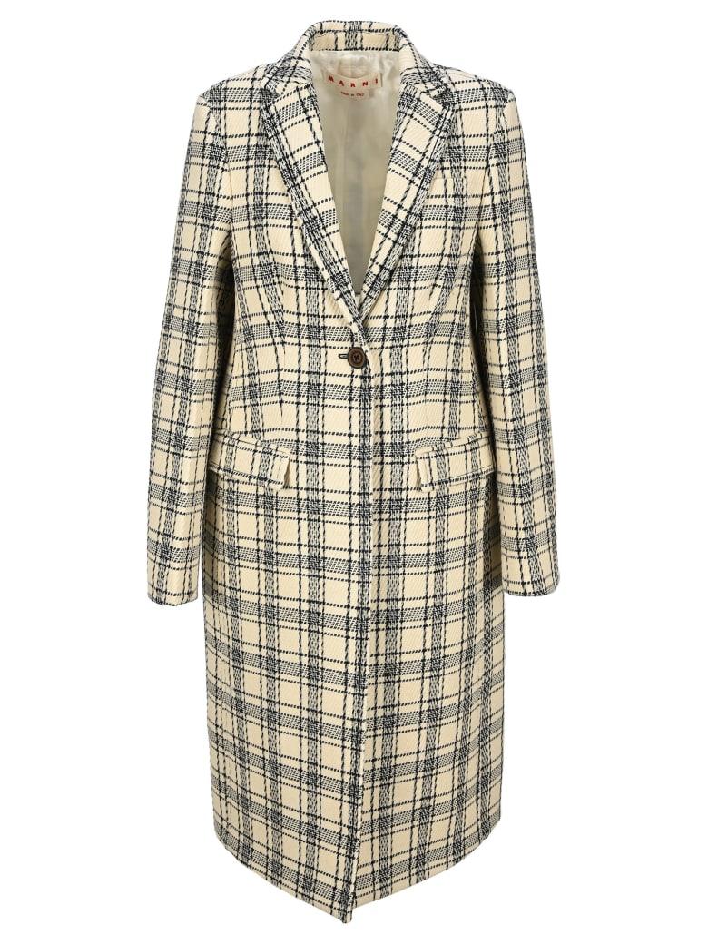 Marni Checked Single-breasted Coat - Check