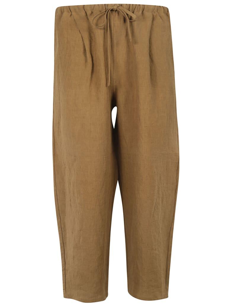 A Punto B Cropped Length Drawstring Trousers - Brown