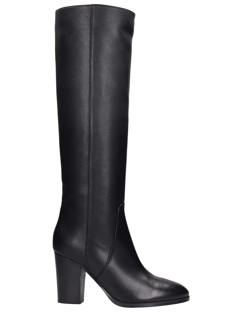 Fabio Rusconi High Heels Boots In Black Leather - black