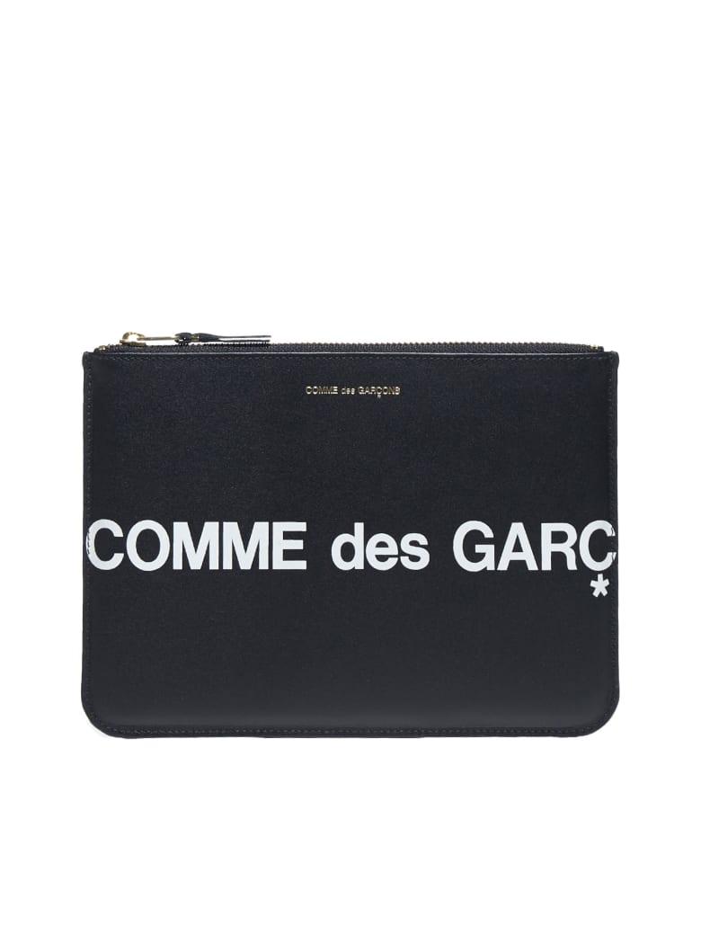 Comme des Garçons Wallet Huge Logo Clutch - Black