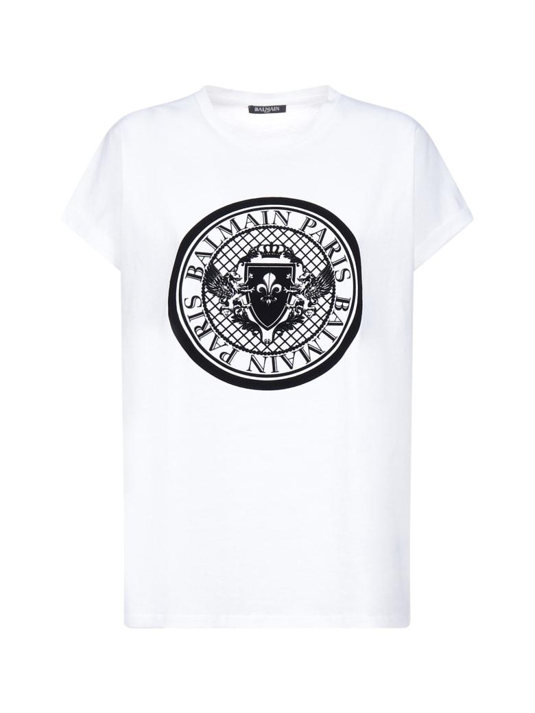 Balmain Short Sleeve T-Shirt - Blanc noir