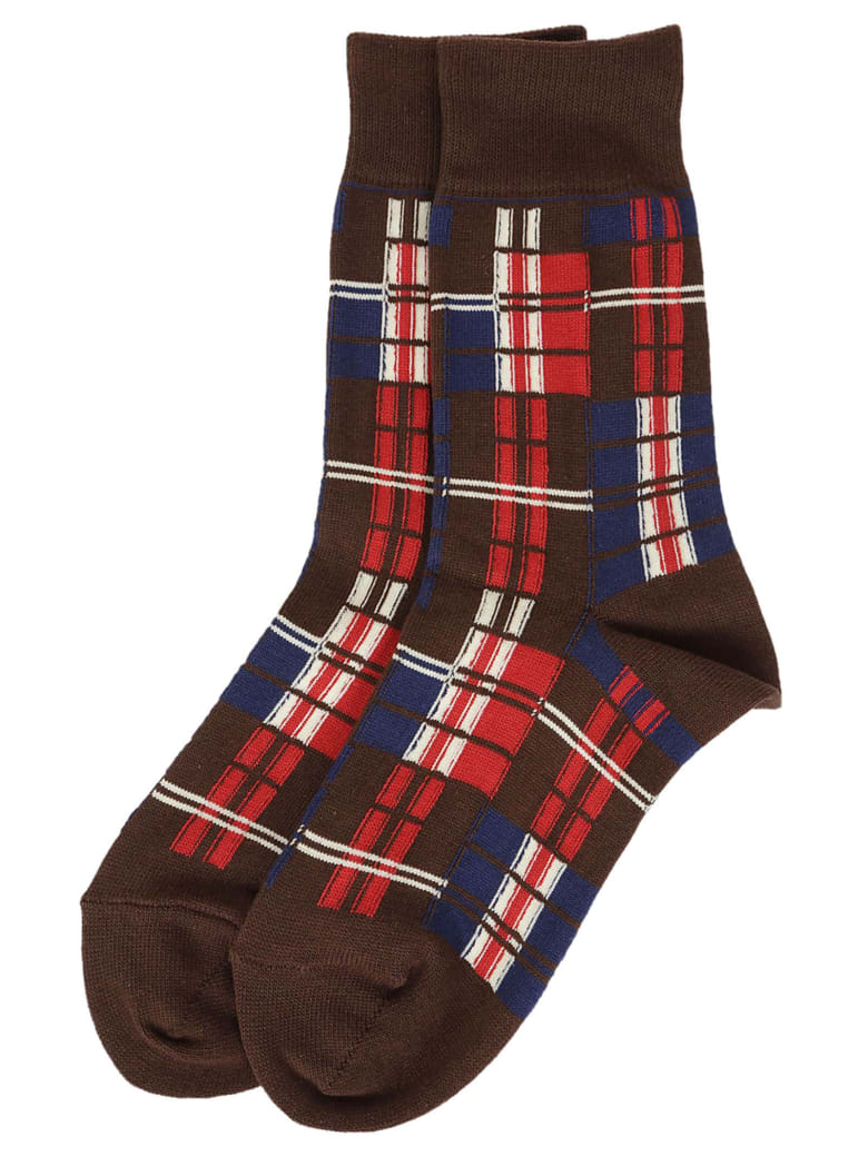 Zucca Checkered Socks - Red