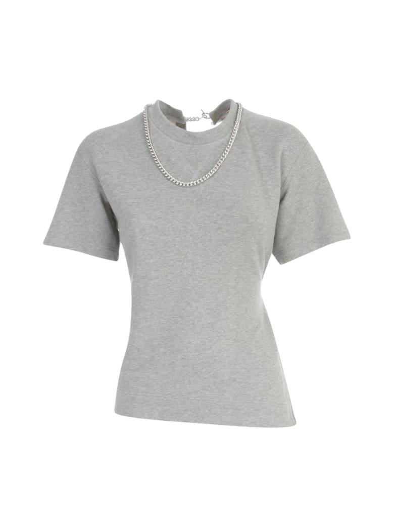 N.21 3/4s Sweatshirt Back Destroyed - Light Melange Grey