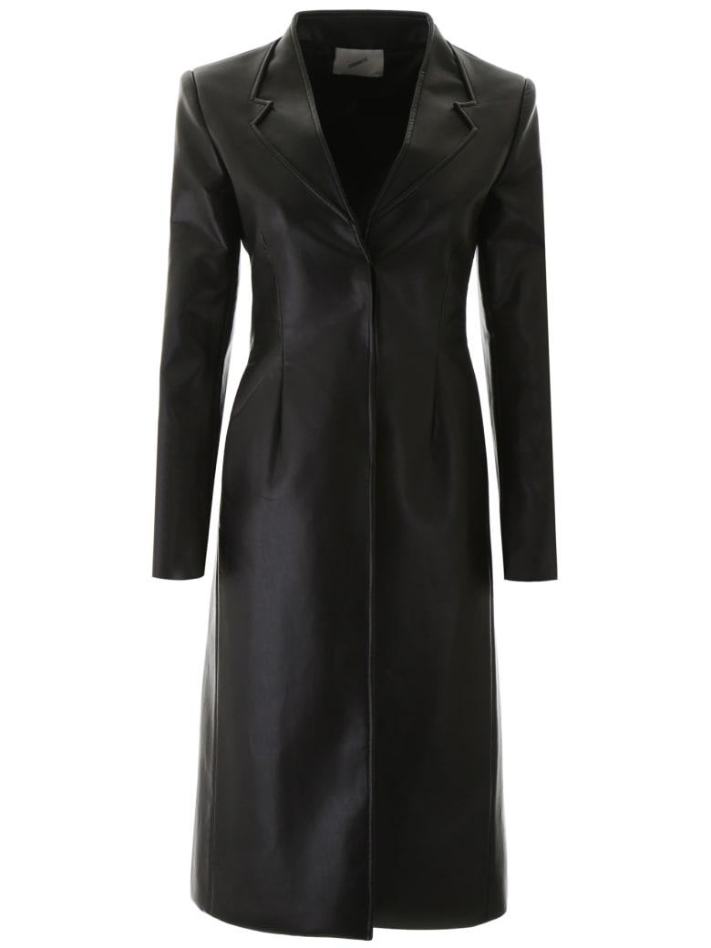 Coperni Leather Coat - BLACK (Black)