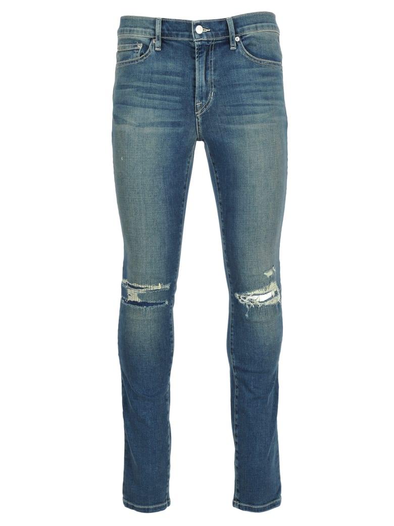 Stampd la Stampd Distressed Skinny Jeans - MED BLUE
