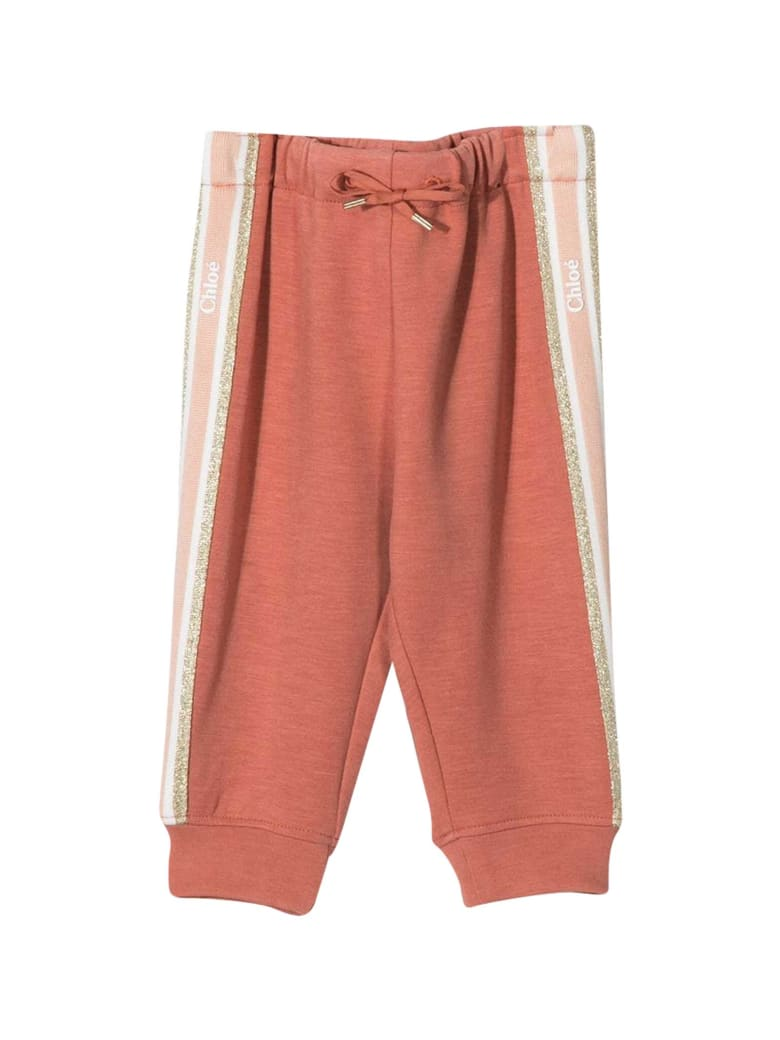 Chloé Pink Sports Trousers Chloé Kids - Mattone
