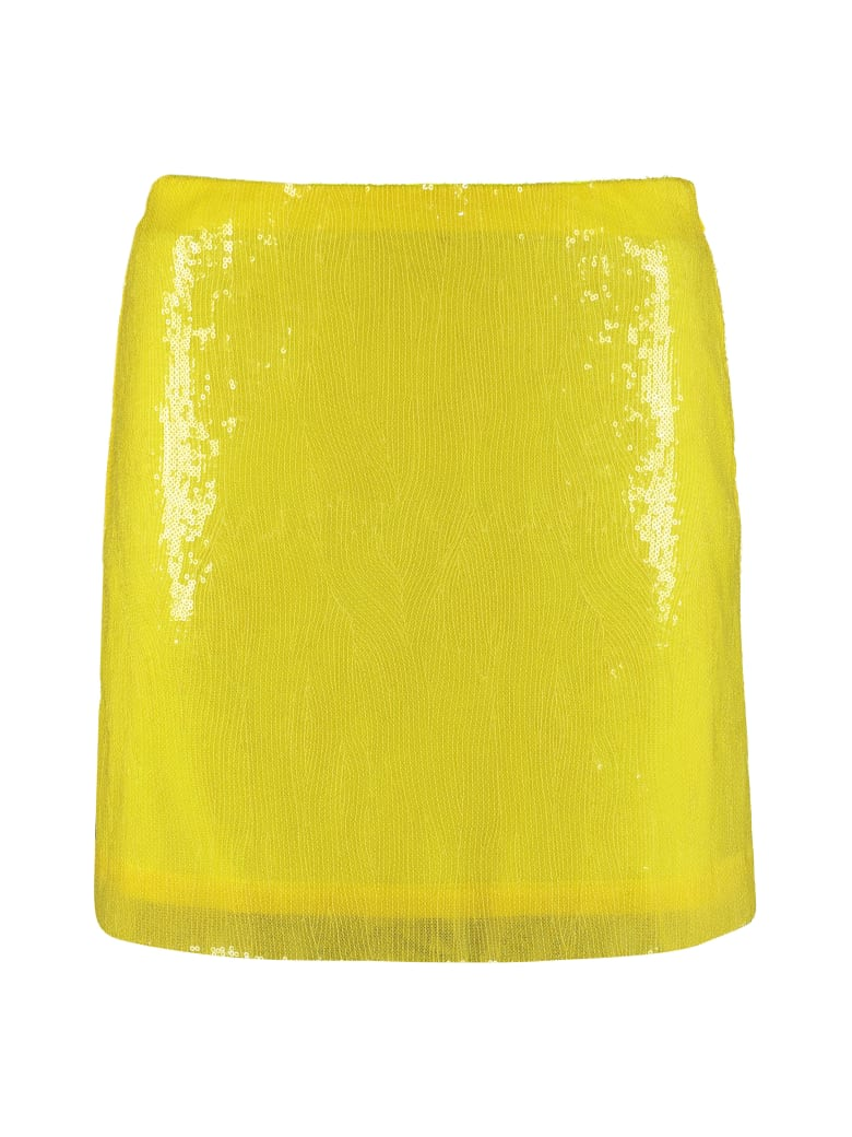 Alberta Ferretti Sequins Mini Skirt - Yellow