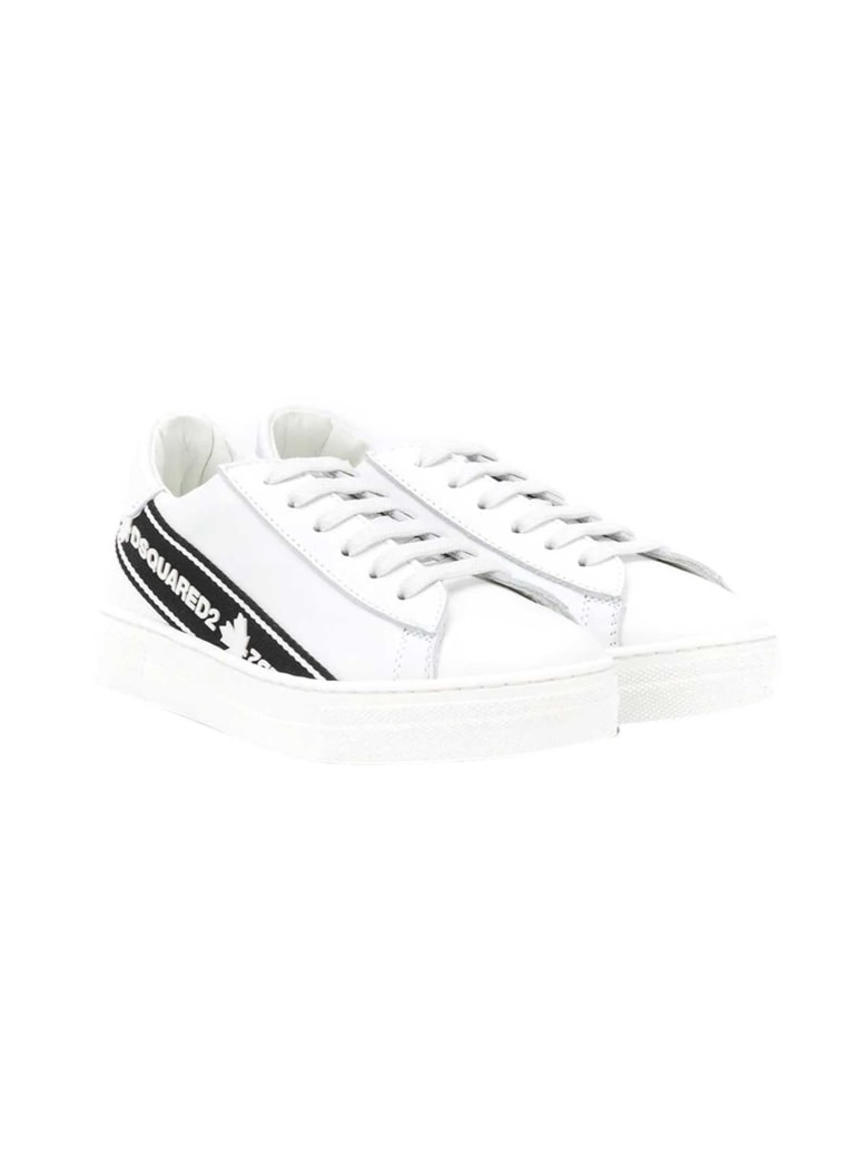 Dsquared2 Sneakers Bianche Teen Dsquared Kids 2 - Nero/bianco