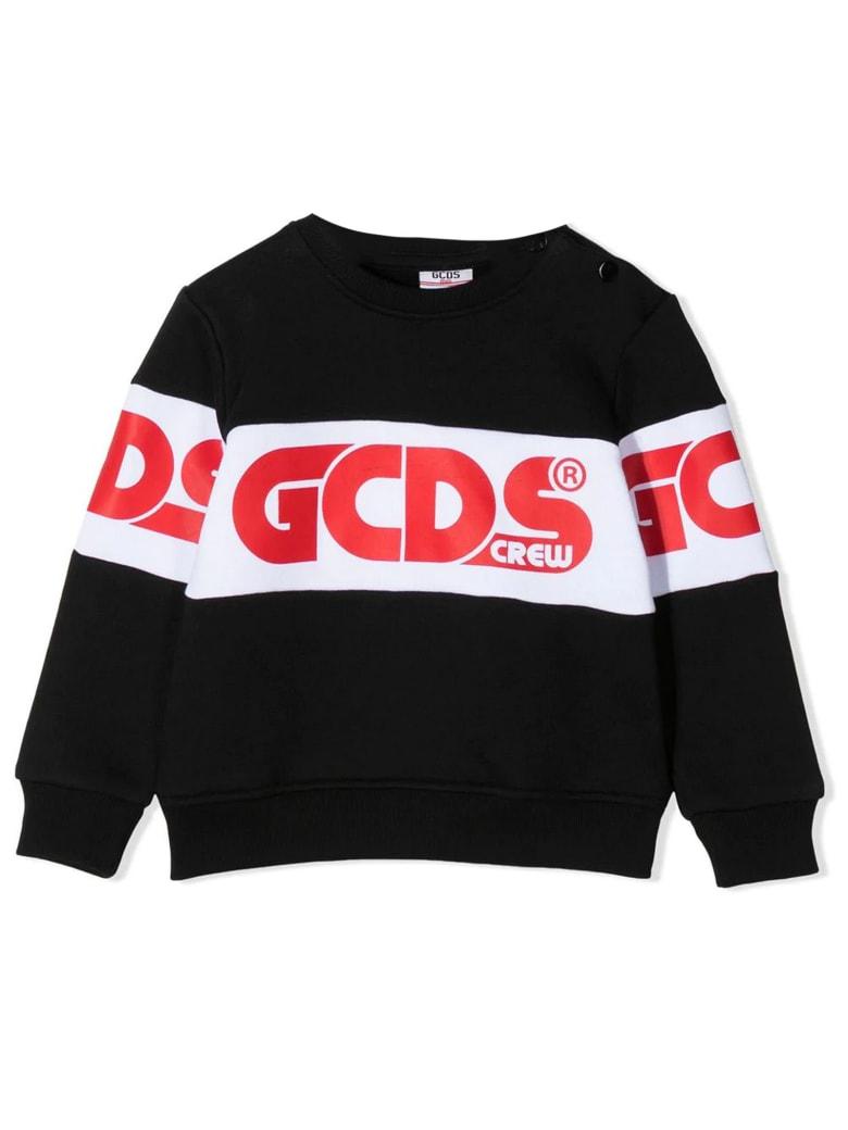 GCDS Black Cotton Sweatshirt - Nero