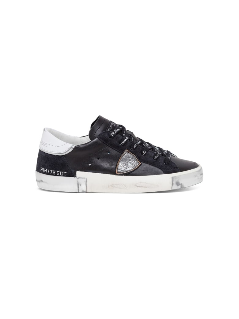 Philippe Model Leather Prsx Sneakers - Black