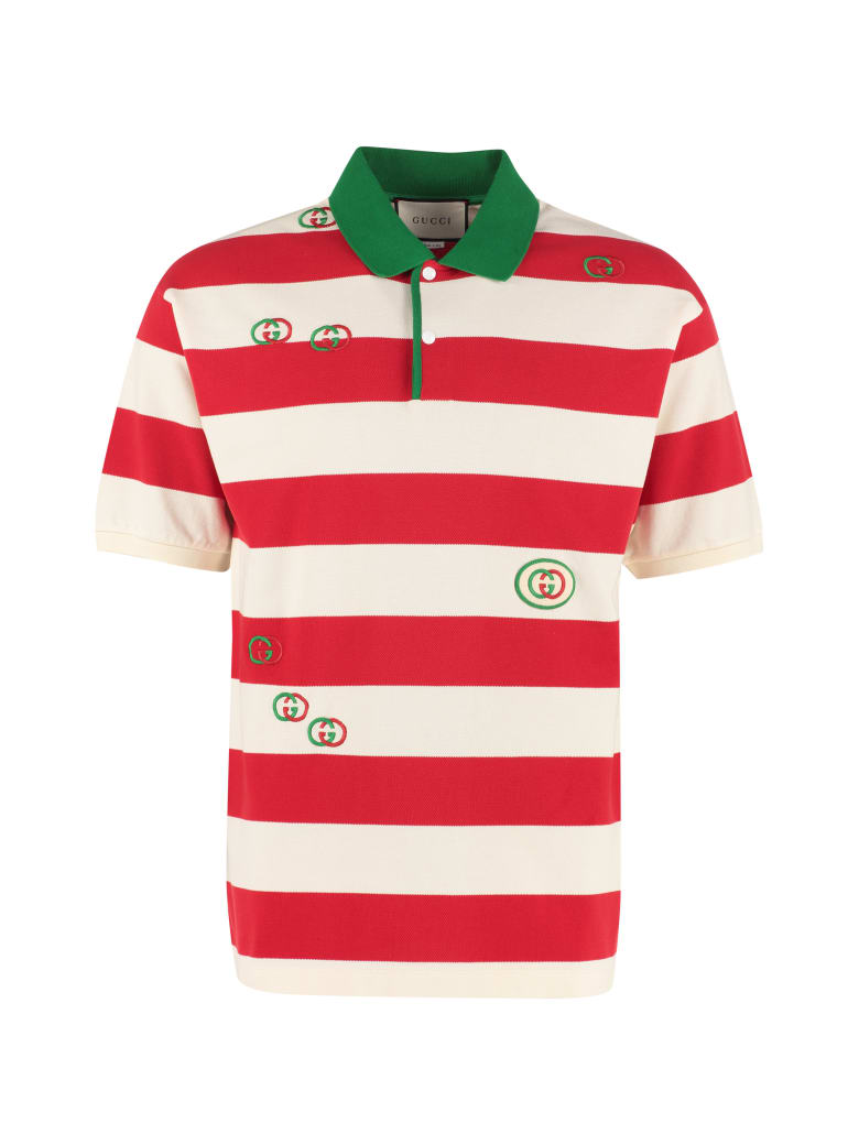 latest best prices super popular Best price on the market at italist | Gucci Gucci Striped Cotton Polo Shirt