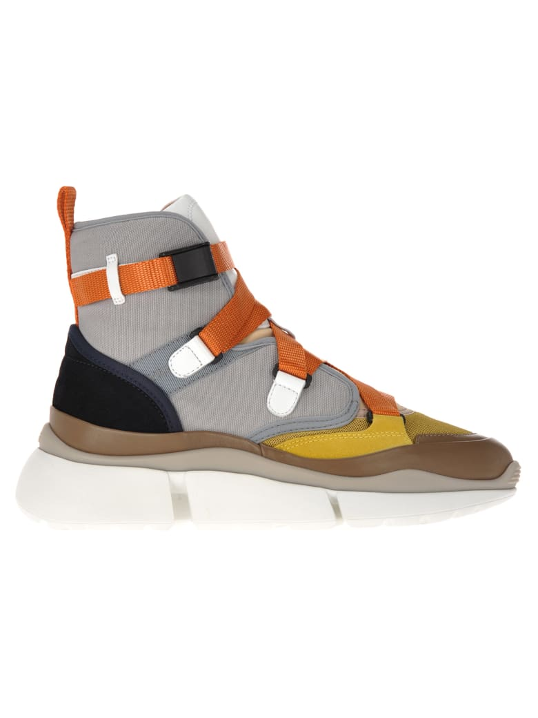 Chloé Chloe' High Top Sneakers - BEIGE ORANGE
