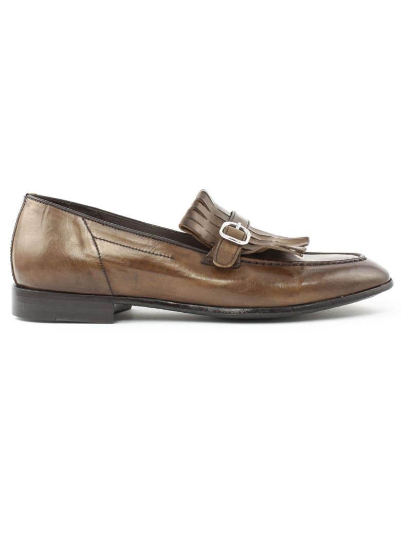 Green George Brown Leather Loafer - Cuoio